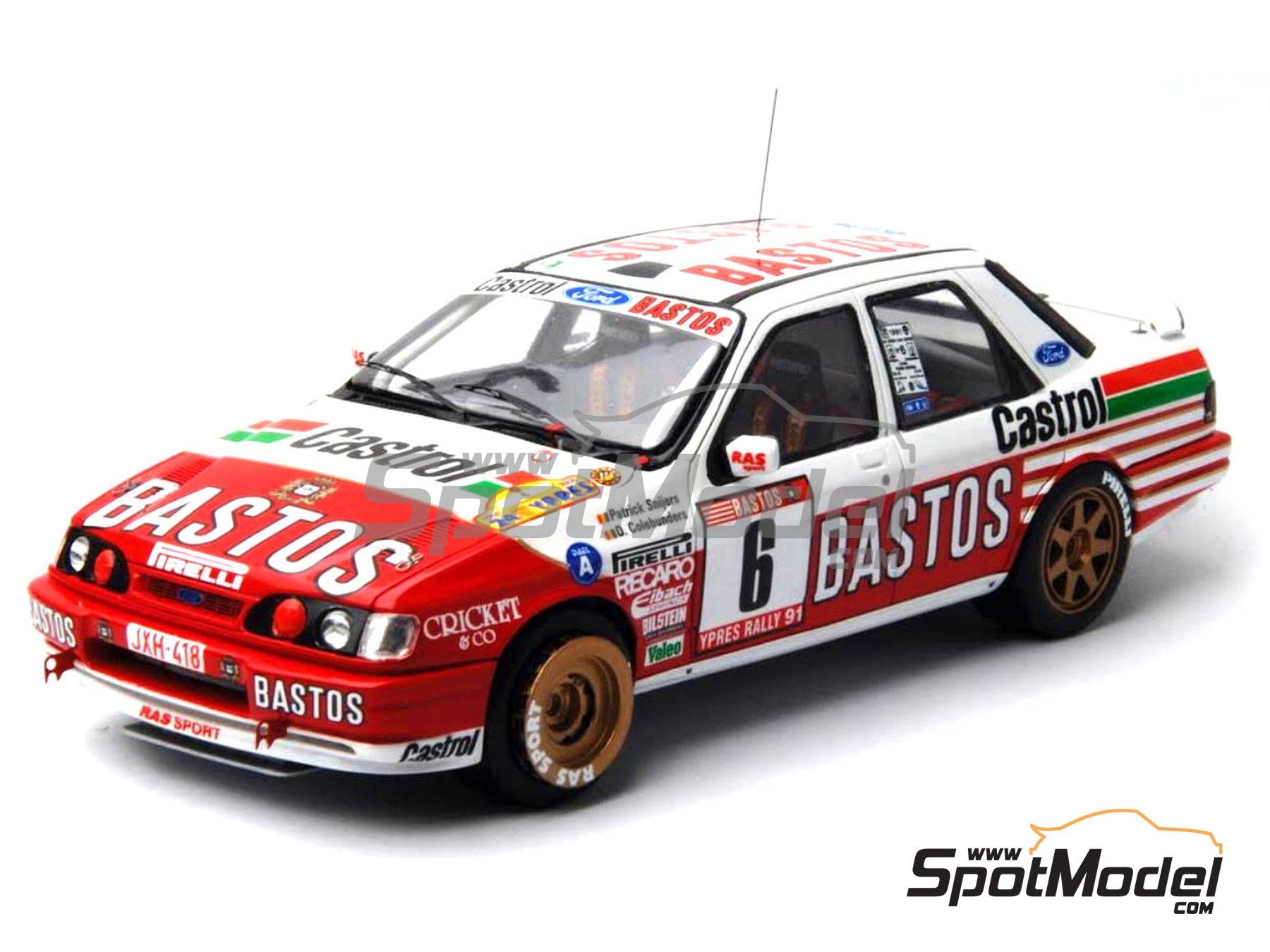 Image 17: Ford Sierra Cosworth 4x4 Group A Bastos Castrol - Ypres Rally, Rallye Critérium des Cévennes 1991 | Model car kit in 1/24 scale manufactured by Renaissance Models (ref. CTR2424, also CTR2424/BODY)
