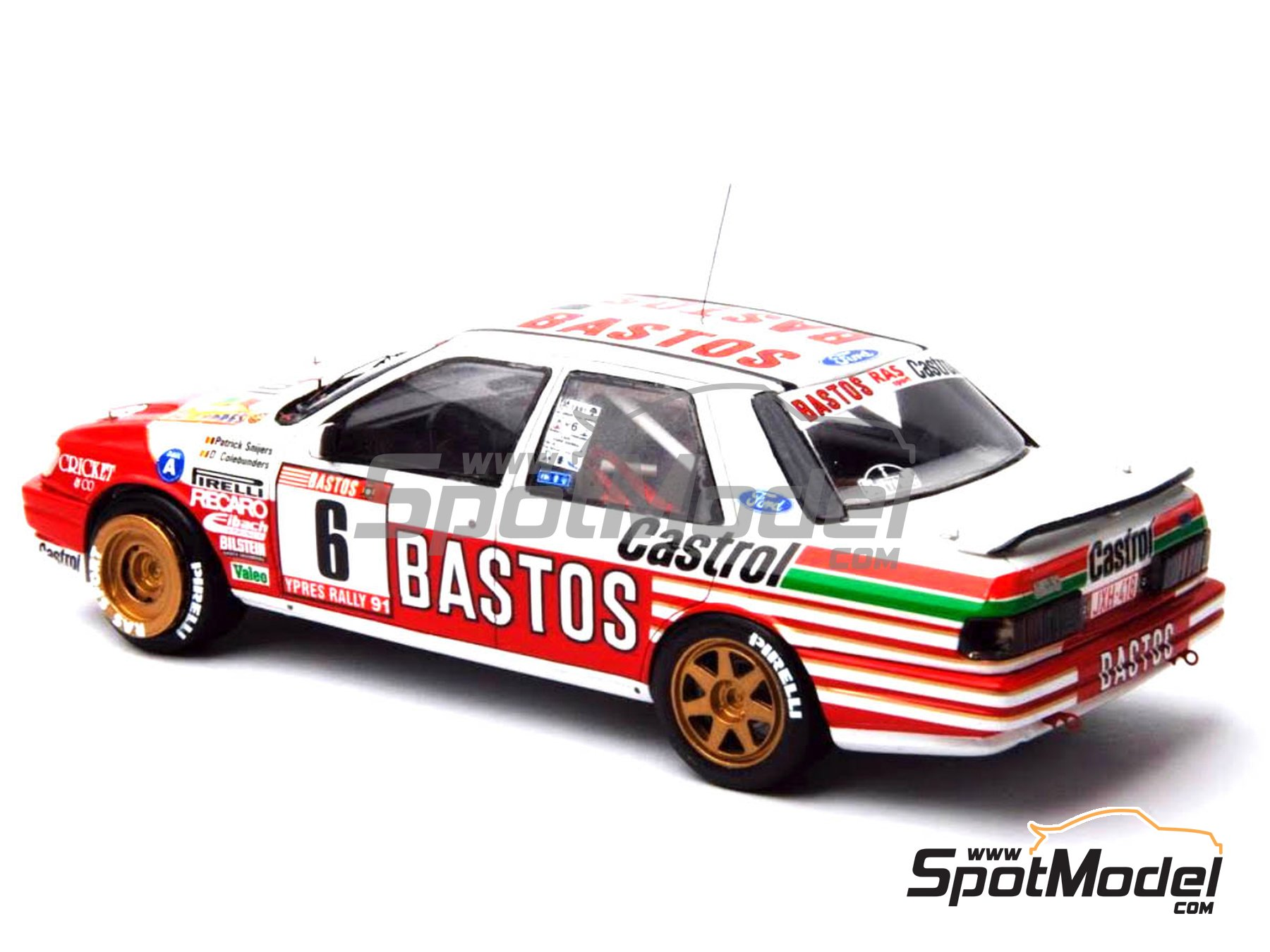 Image 18: Ford Sierra Cosworth 4x4 Group A Bastos Castrol - Ypres Rally, Rallye Critérium des Cévennes 1991 | Model car kit in 1/24 scale manufactured by Renaissance Models (ref. CTR2424, also CTR2424/BODY)