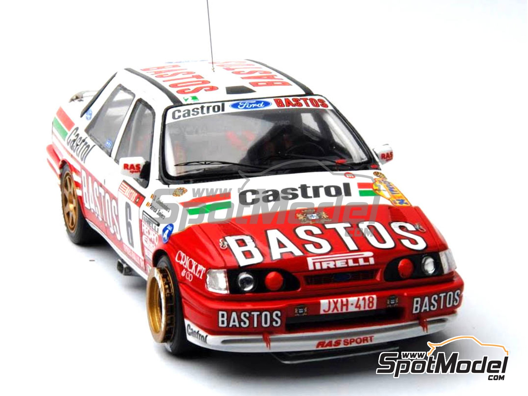 Image 19: Ford Sierra Cosworth 4x4 Group A Bastos Castrol - Ypres Rally, Rallye Critérium des Cévennes 1991 | Model car kit in 1/24 scale manufactured by Renaissance Models (ref. CTR2424)