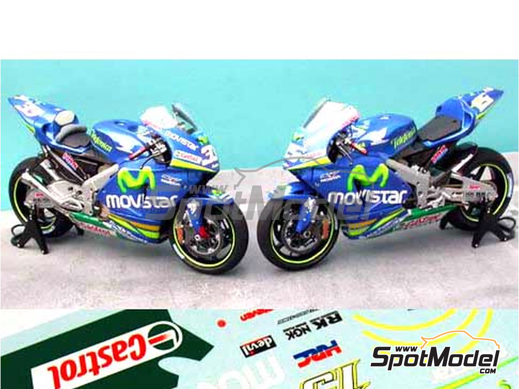 Image 5: Honda RC211V Telefonica Movistar Team Gresini - Motorcycle World Championship 2005 | Marking / livery in 1/12 scale manufactured by Renaissance Models (ref.MTK12-009DS)