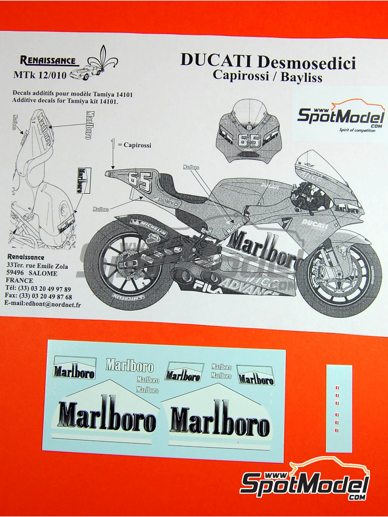 renaissance models logotypes 1 12 scale ducati desmosedici gp4 rh spotmodel com BMW Workshop Manual Store Workshop Manual
