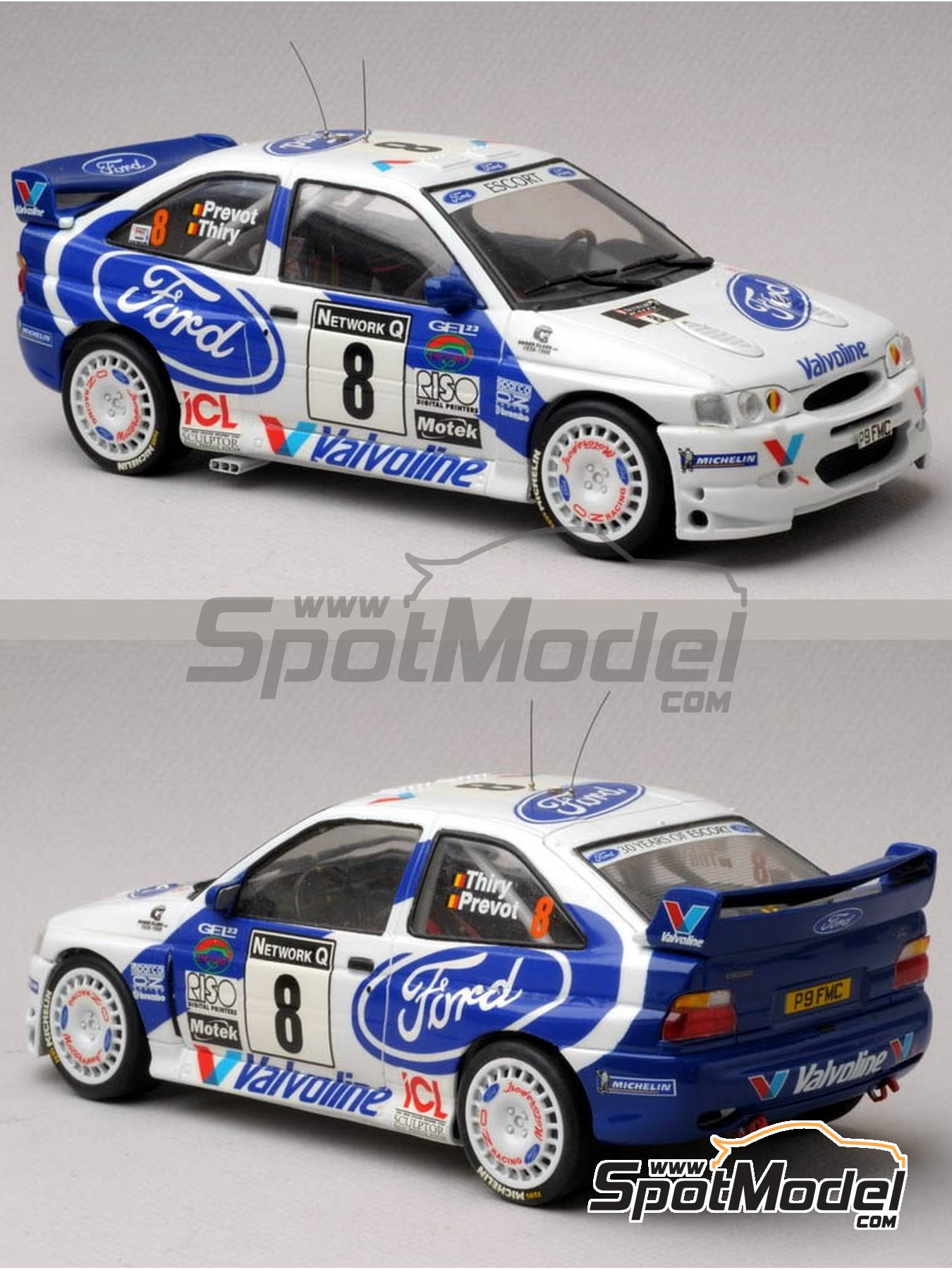 Ford Escort WRC Valvoline - Great Britain RAC Rally 1998 | Marking / livery in 1/24 scale manufactured by Renaissance Models (ref. TK24-017) image