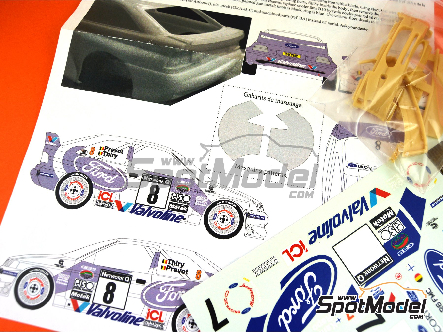 Image 3: Ford Escort WRC Valvoline - Great Britain RAC Rally 1998 | Marking / livery in 1/24 scale manufactured by Renaissance Models (ref. TK24-017)
