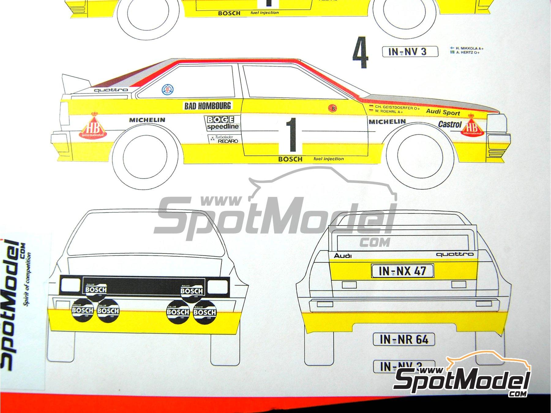 Image 5: Audi Quattro Grupo B HB - Rally de Montecarlo 1984 | Decoración en escala1/24 fabricado por Renaissance Models (ref.TK24-046DS)