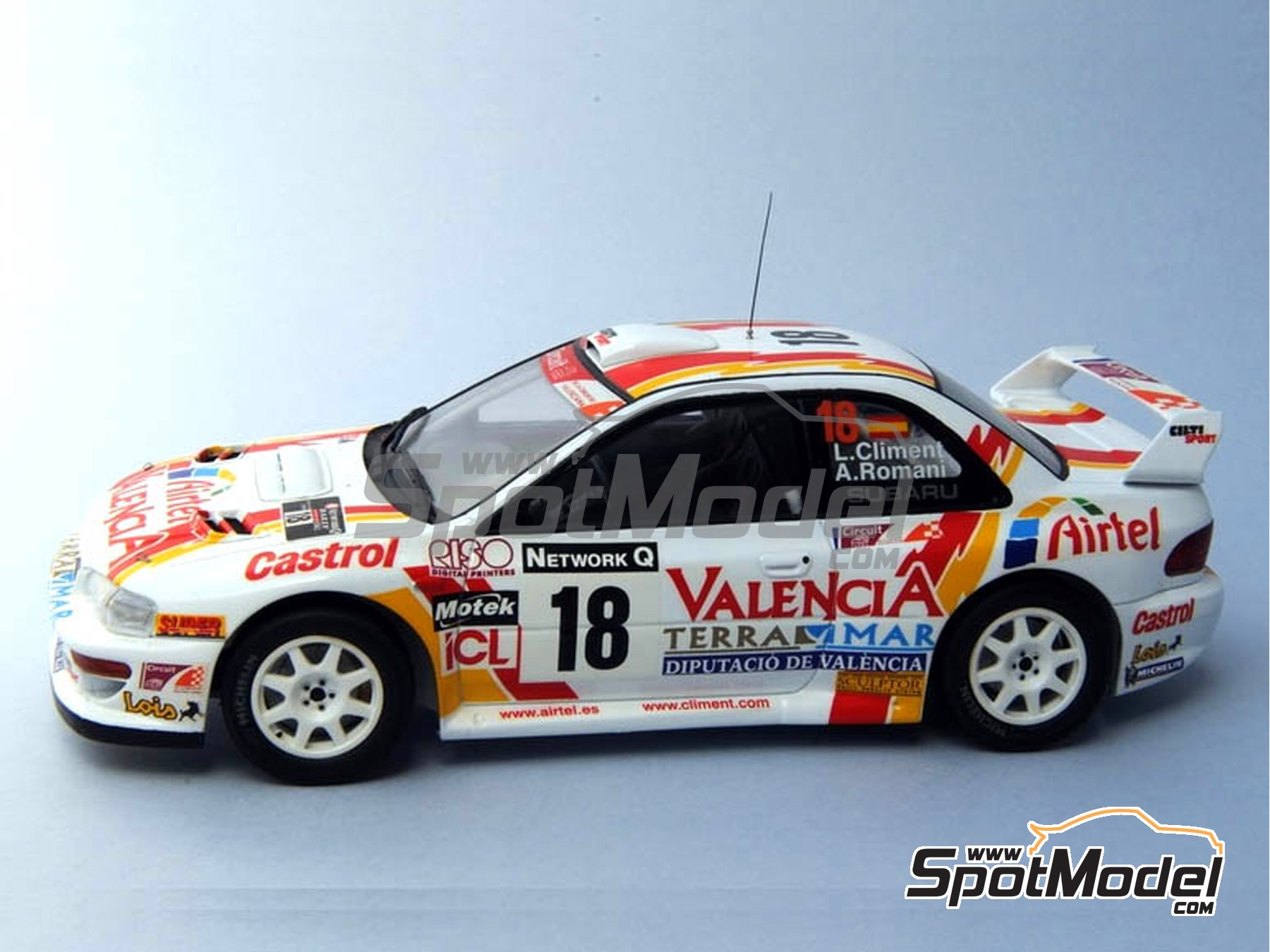 Image 1: Subaru Impreza WRC Airtel - Great Britain RAC Rally 1999 | Marking / livery in 1/24 scale manufactured by Renaissance Models (ref. TK24-051)