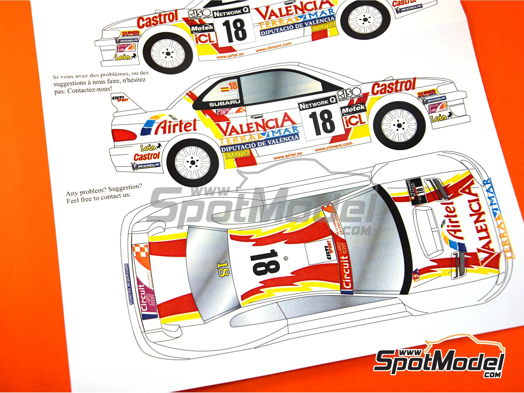 Image 8: Subaru Impreza WRC Airtel - Great Britain RAC Rally 1999 | Marking / livery in 1/24 scale manufactured by Renaissance Models (ref. TK24-051)
