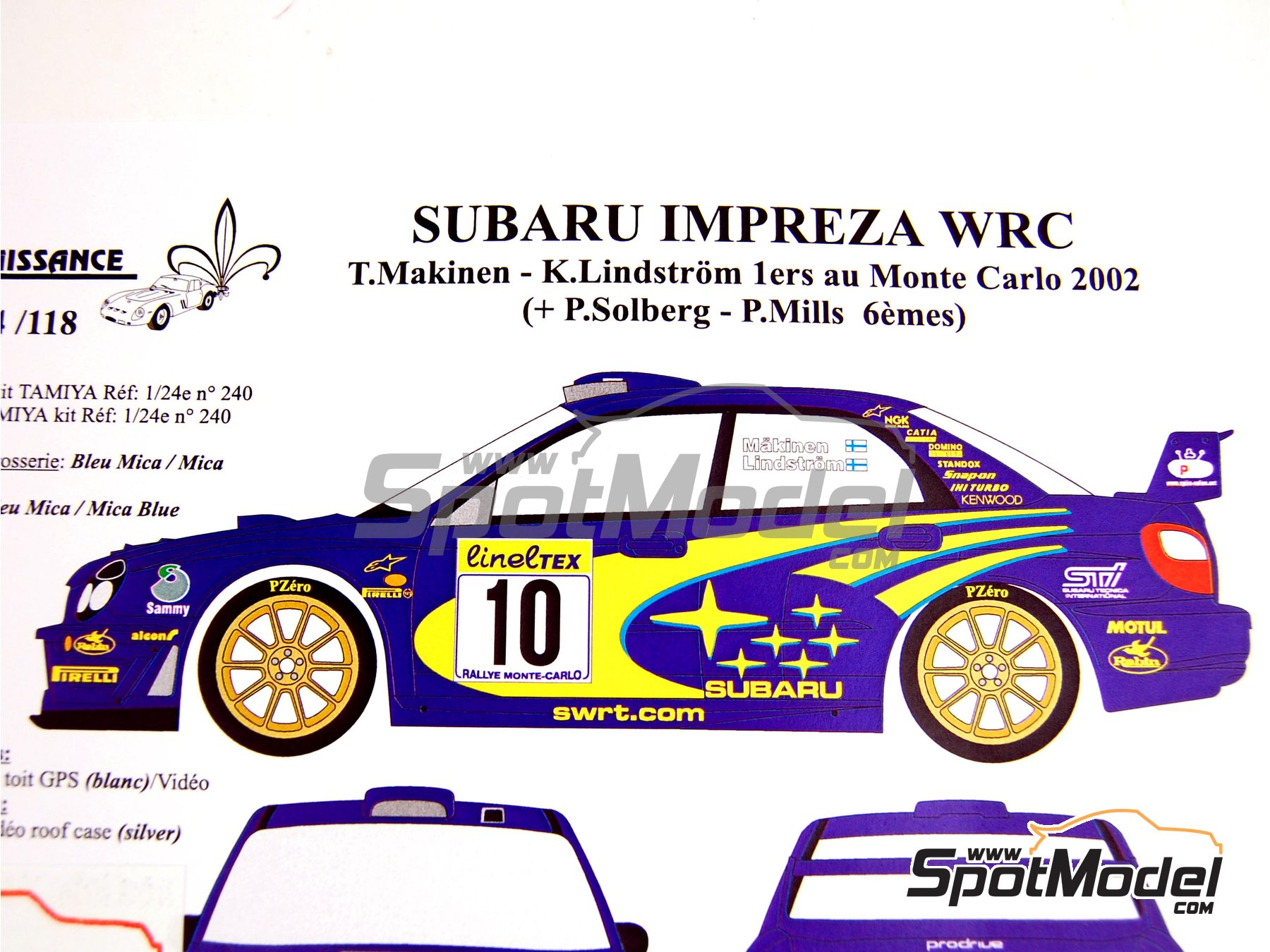 Renaissance Models Marking Livery 1 24 Scale Subaru