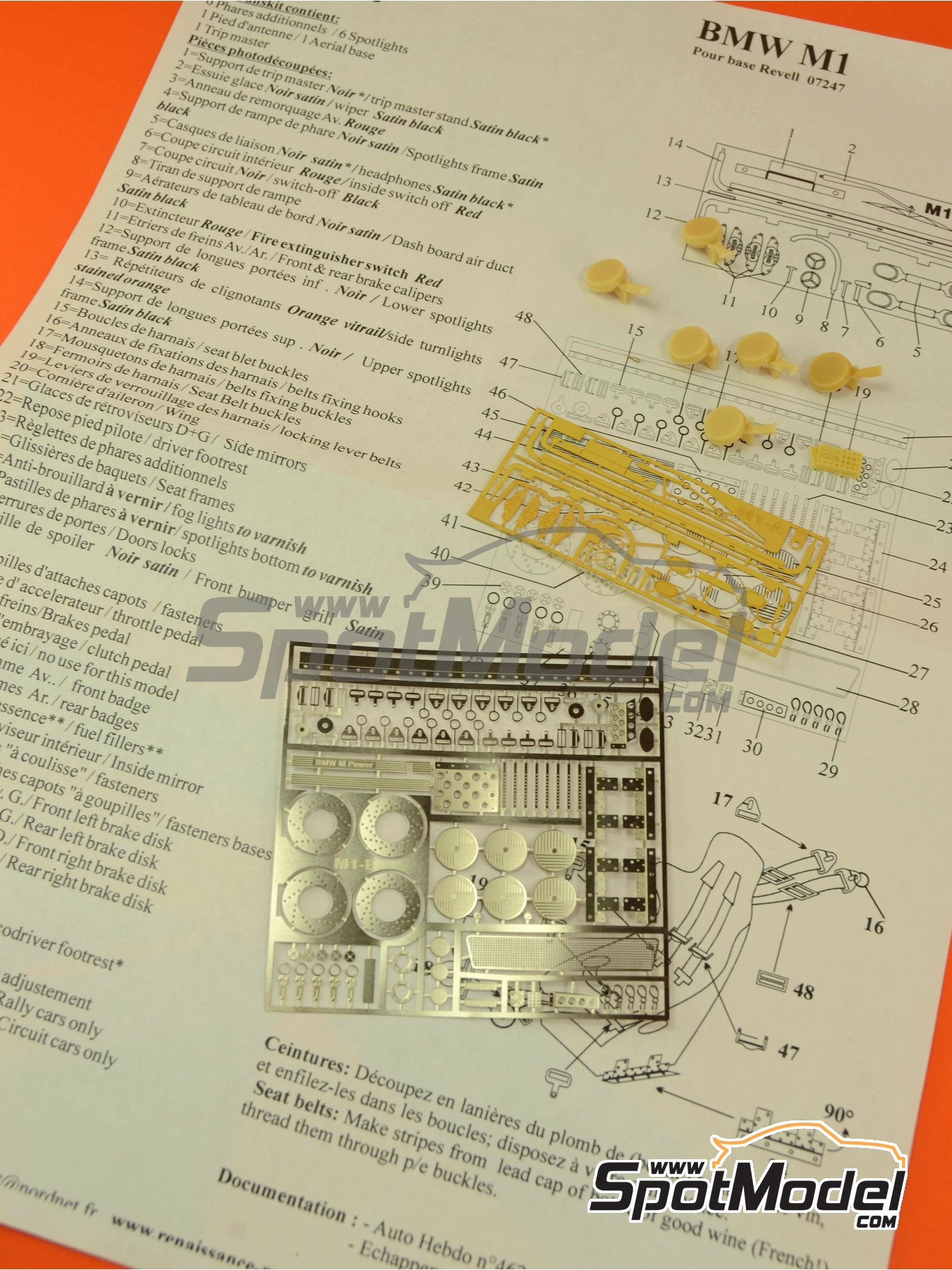BMW M1 Group 4 | Photo-etched parts in 1/24 scale manufactured by Renaissance Models (ref.TK24-151) image