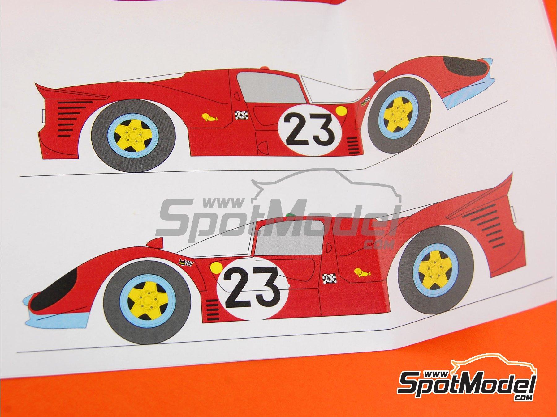 Image 7: Ferrari 412 P Maranello Concessionaires - 24 Horas de Le Mans 1967 | Transkit en escala1/24 fabricado por Renaissance Models (ref.TK24-212)