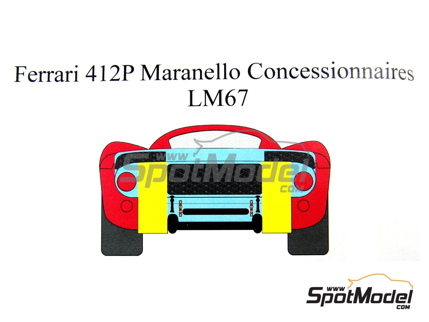 Image 4: Ferrari 412 P Maranello Concessionaires - 24 Horas de Le Mans 1967 | Decoración en escala1/24 fabricado por Renaissance Models (ref.TK24-212DS)