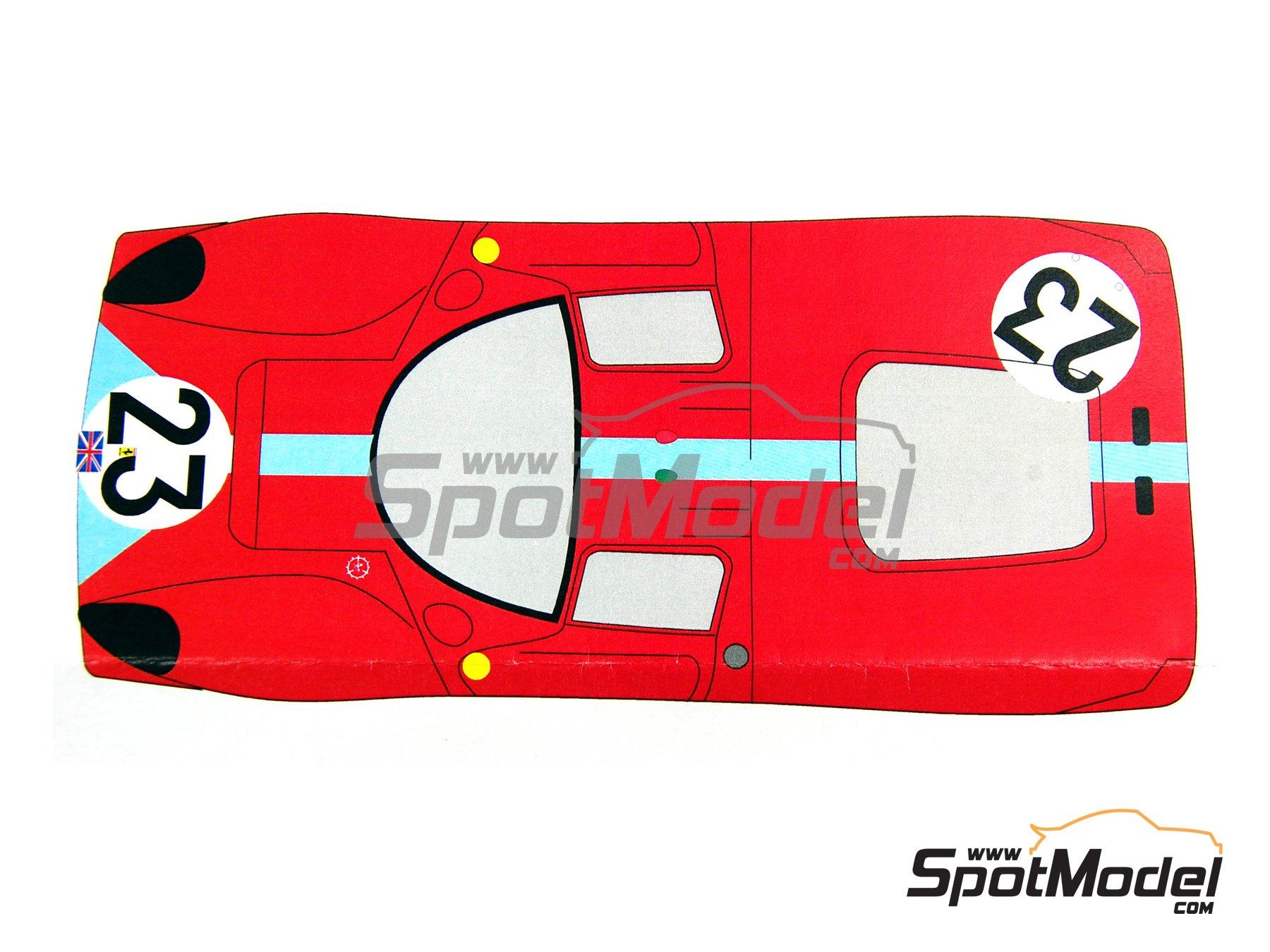 Image 5: Ferrari 412 P Maranello Concessionaires - 24 Horas de Le Mans 1967 | Decoración en escala1/24 fabricado por Renaissance Models (ref.TK24-212DS)