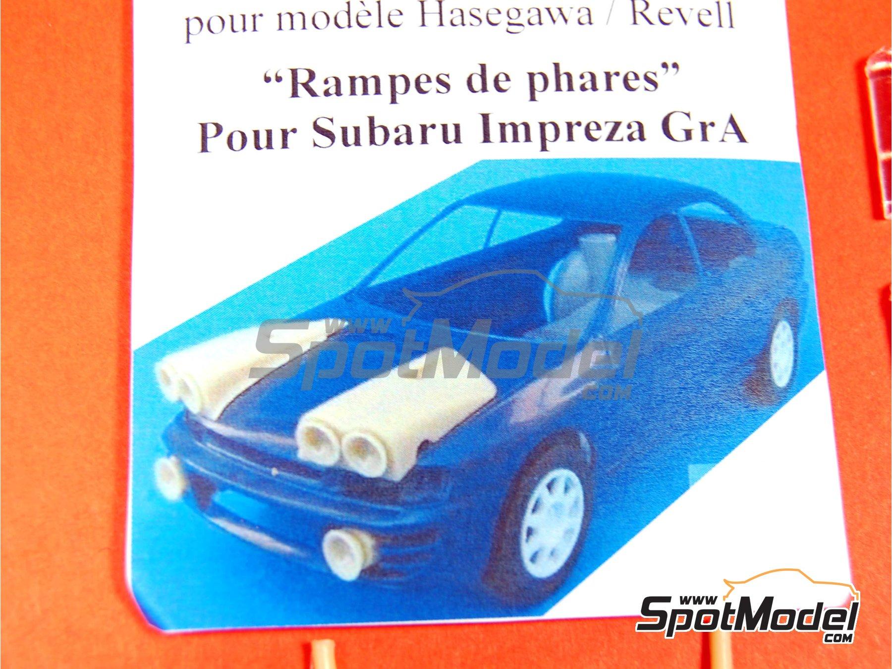 Image 3: Subaru Impreza Grupo A - Juego de luces de noche   Transkit en escala1/24 fabricado por Renaissance Models (ref.TK24-283)