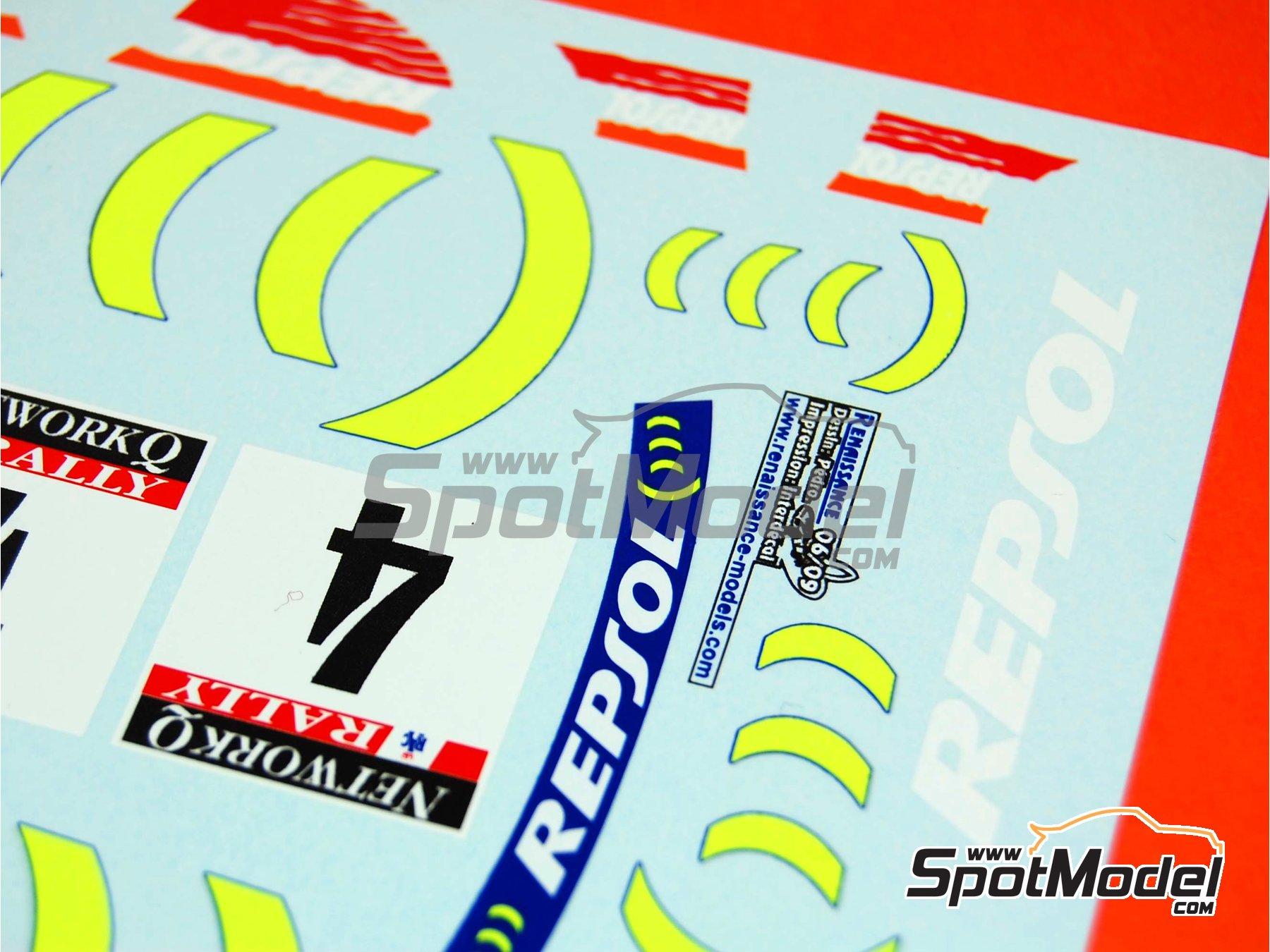 Image 11: Subaru Impreza 555 Grupo A Repsol - Rally de Cataluña Costa Dorada RACC, Rally de Inglaterra RAC 1995 | Decoración en escala1/24 fabricado por Renaissance Models (ref.TK24-289)