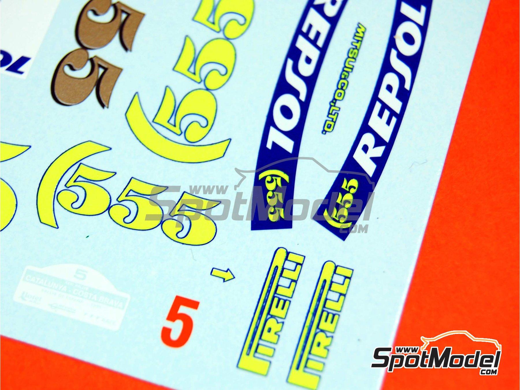 Image 16: Subaru Impreza 555 Grupo A Repsol - Rally de Cataluña Costa Dorada RACC, Rally de Inglaterra RAC 1995 | Decoración en escala1/24 fabricado por Renaissance Models (ref.TK24-289)