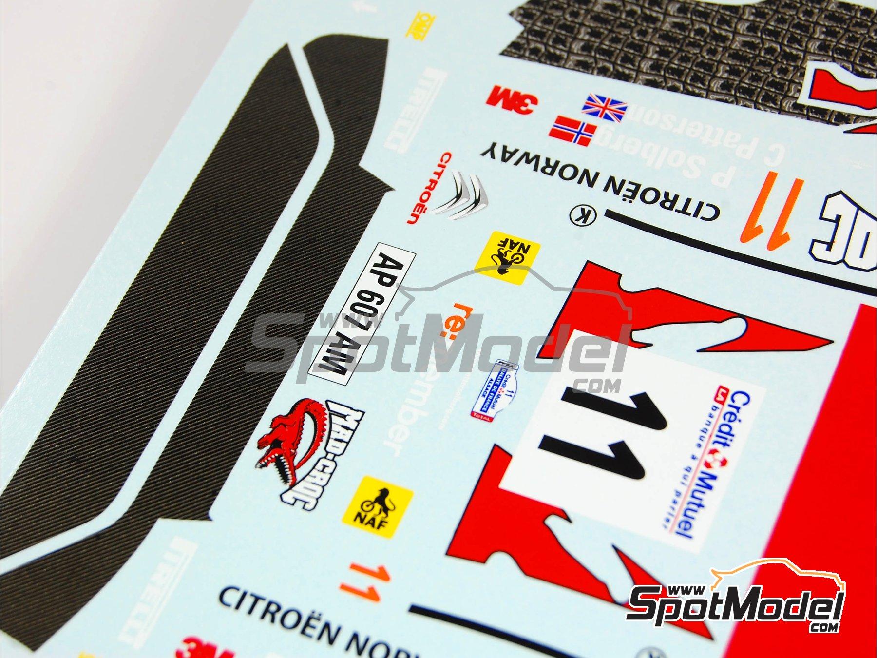 Image 6: Citroen C4 WRC Mad Croc - Rally de Francia 2010 | Decoración en escala1/24 fabricado por Renaissance Models (ref.TK24-317)