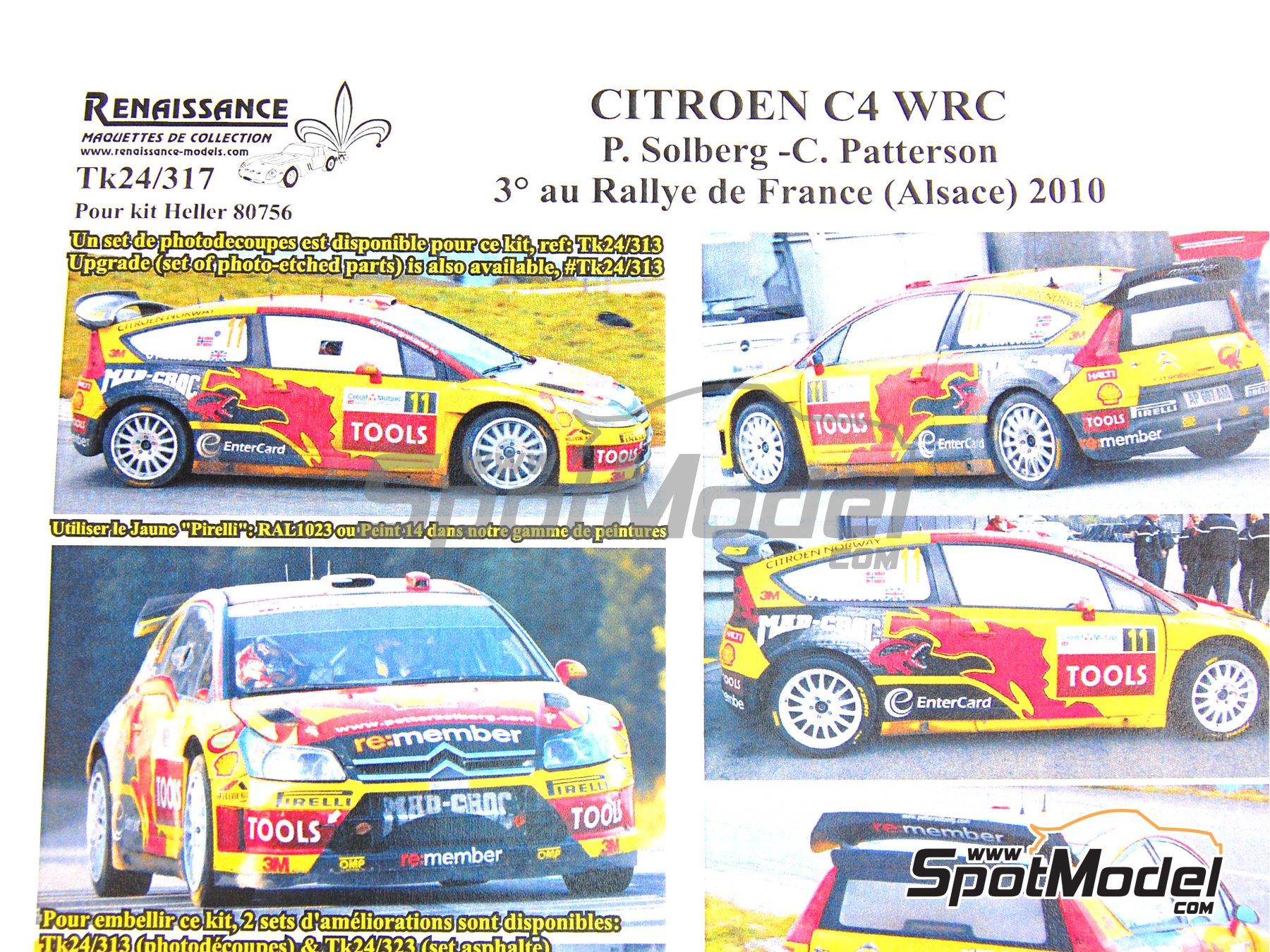 Image 9: Citroen C4 WRC Mad Croc - Rally de Francia 2010 | Decoración en escala1/24 fabricado por Renaissance Models (ref.TK24-317)