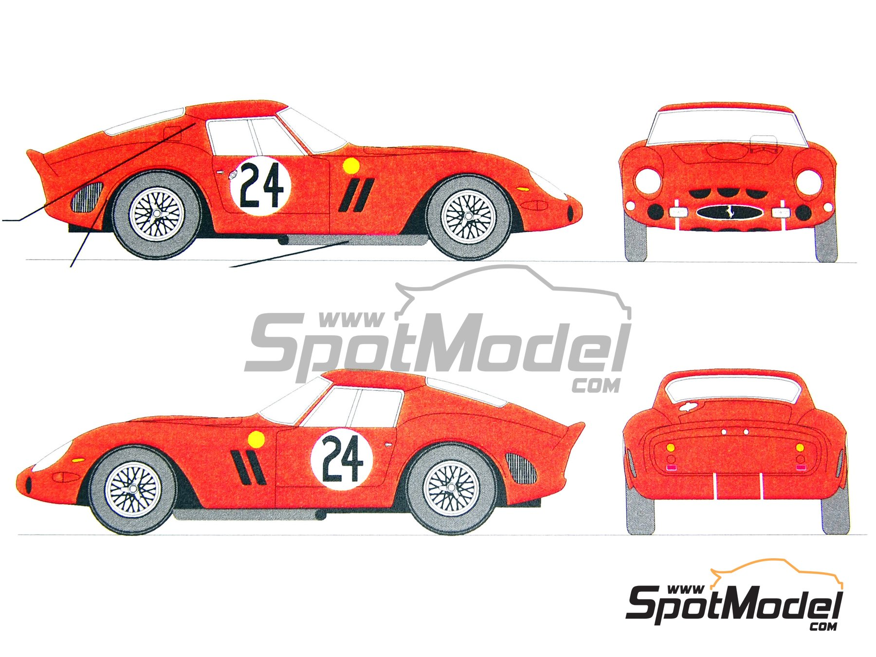 renaissance models marking livery 1 24 scale ferrari 250 gto 24 25 172 jean 39 beurlys. Black Bedroom Furniture Sets. Home Design Ideas