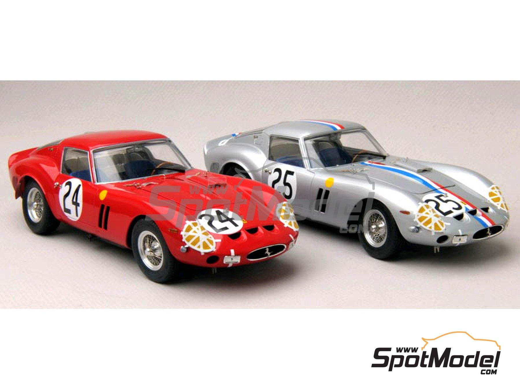 Image 10: Ferrari 250 GTO - 24 Horas de Le Mans, Tour de France Automobile 1963 y 1964 | Decoración en escala1/24 fabricado por Renaissance Models (ref.TK24-318)