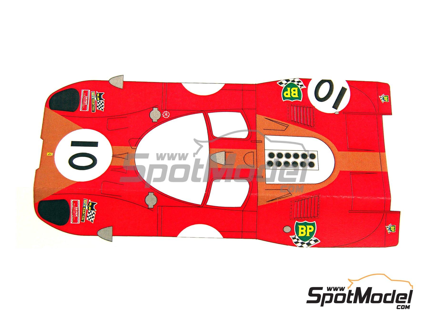 Image 2: Ferrari 512S Gelo Racing Team - 24 Horas de Le Mans 1970 | Decoración en escala1/24 fabricado por Renaissance Models (ref.TK24-320D)