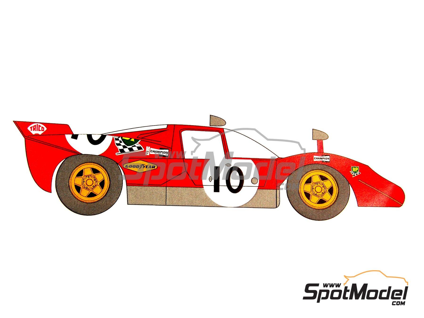 Image 3: Ferrari 512S Gelo Racing Team - 24 Horas de Le Mans 1970 | Decoración en escala1/24 fabricado por Renaissance Models (ref.TK24-320D)
