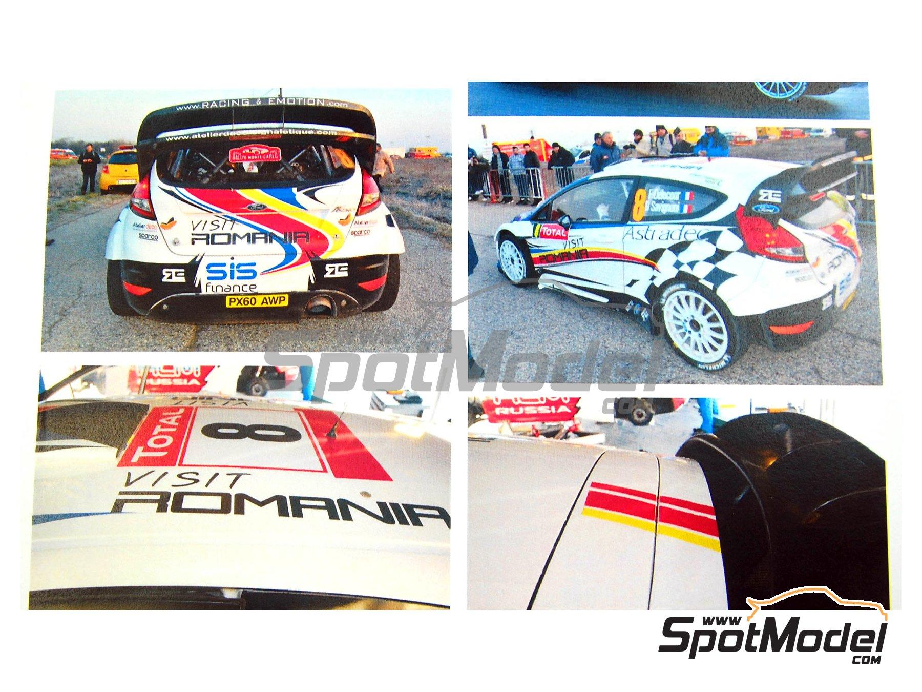 Image 2: Ford Fiesta WRC Romania - Rally de Montecarlo 2012 | Calcas de agua en escala1/24 fabricado por Renaissance Models (ref.TK24-329)