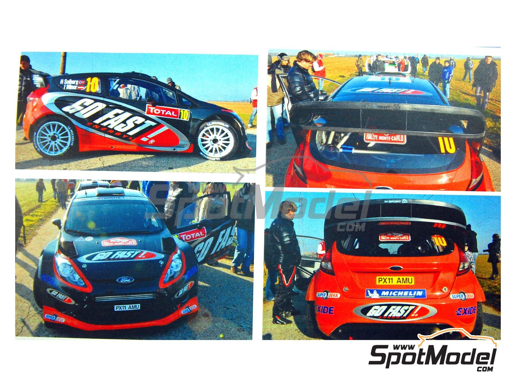 Image 2: Ford Fiesta WRC Go Fast! - Rally de Montecarlo 2012 | Calcas de agua en escala1/24 fabricado por Renaissance Models (ref.TK24-330)