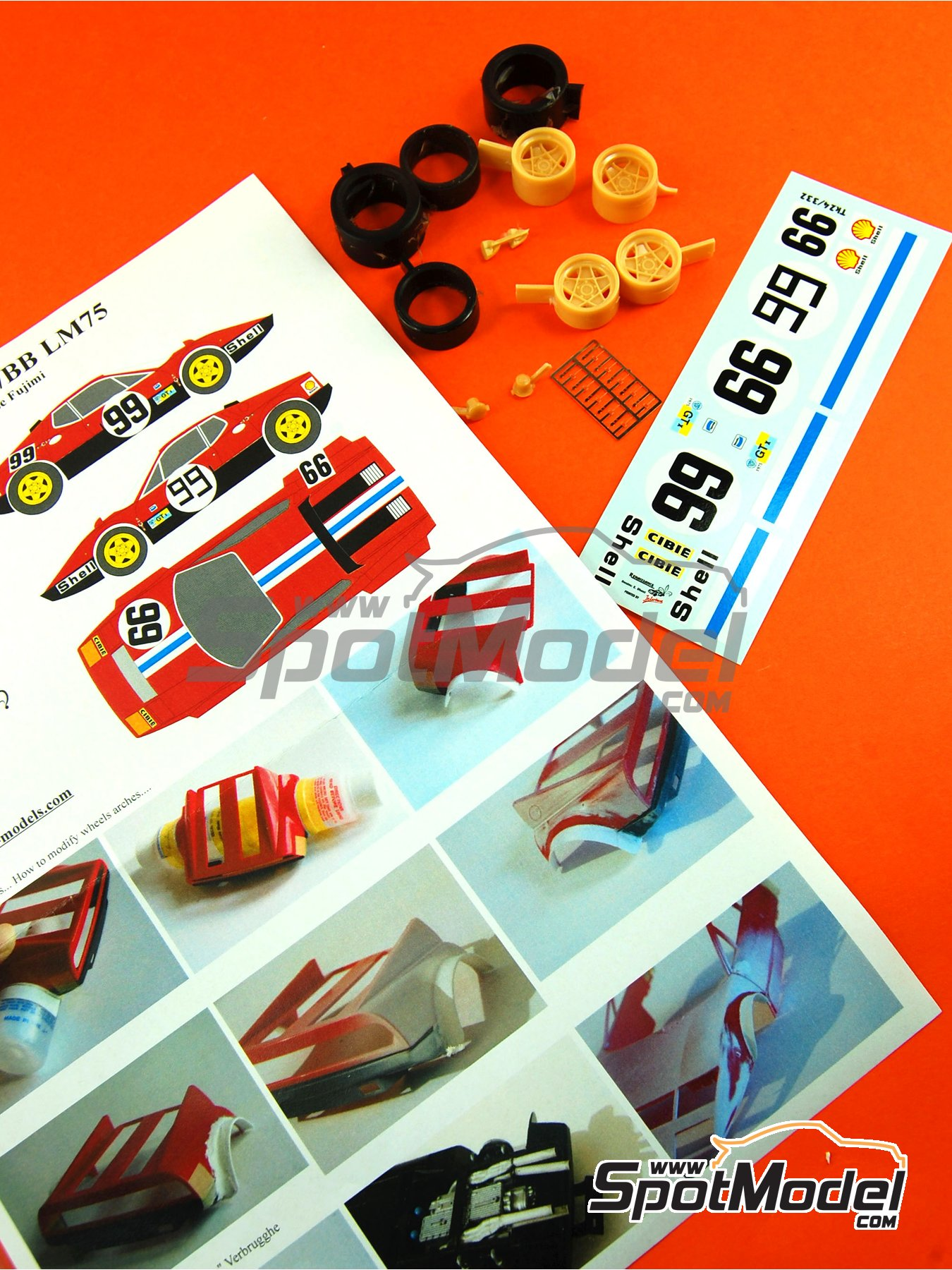 Ferrari 365 GT4/BB - 24 Horas de Le Mans 1975   Transkit en escala1/24 fabricado por Renaissance Models (ref.TK24-332) image