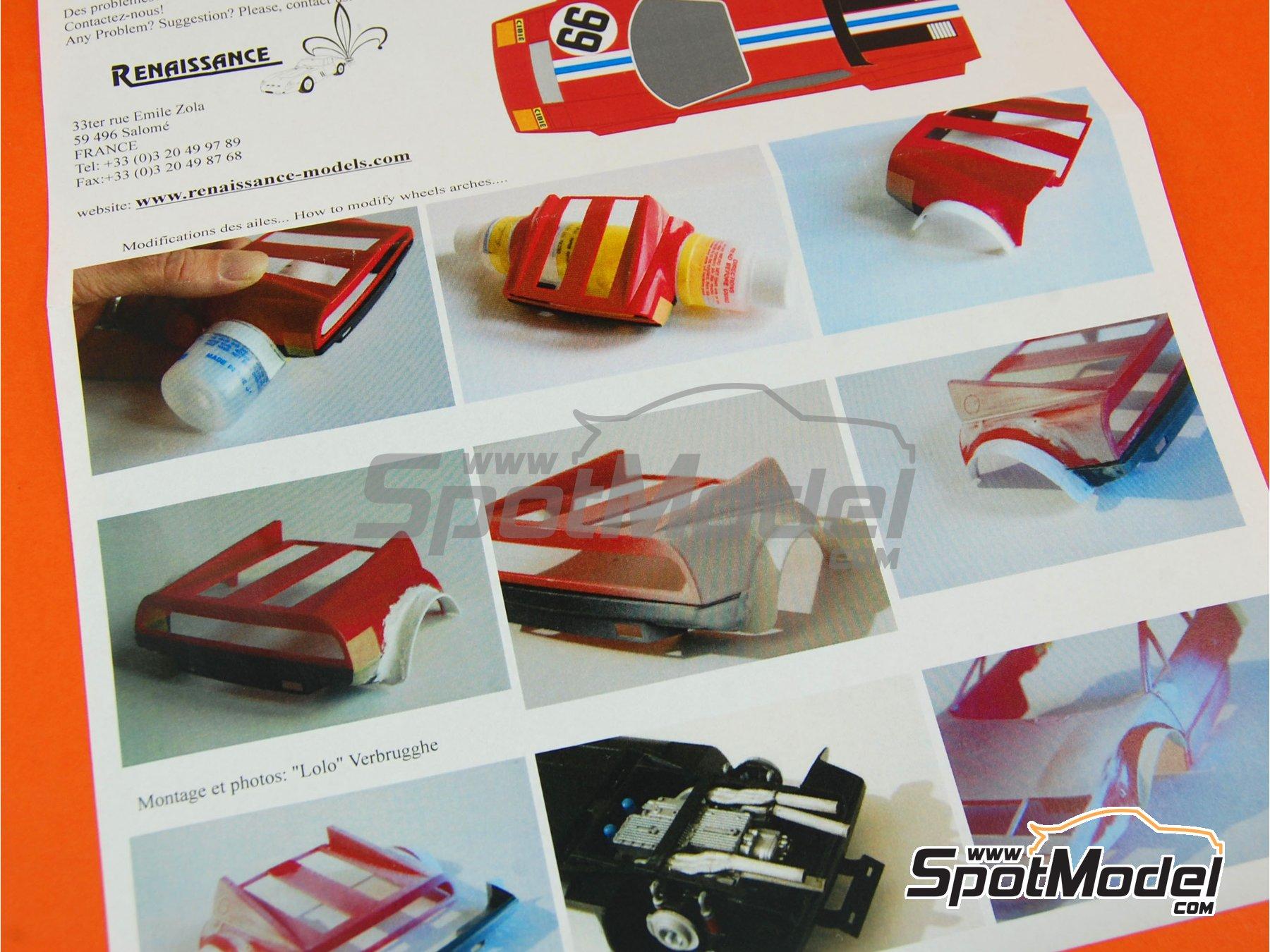 Image 6: Ferrari 365 GT4/BB - 24 Horas de Le Mans 1975   Transkit en escala1/24 fabricado por Renaissance Models (ref.TK24-332)