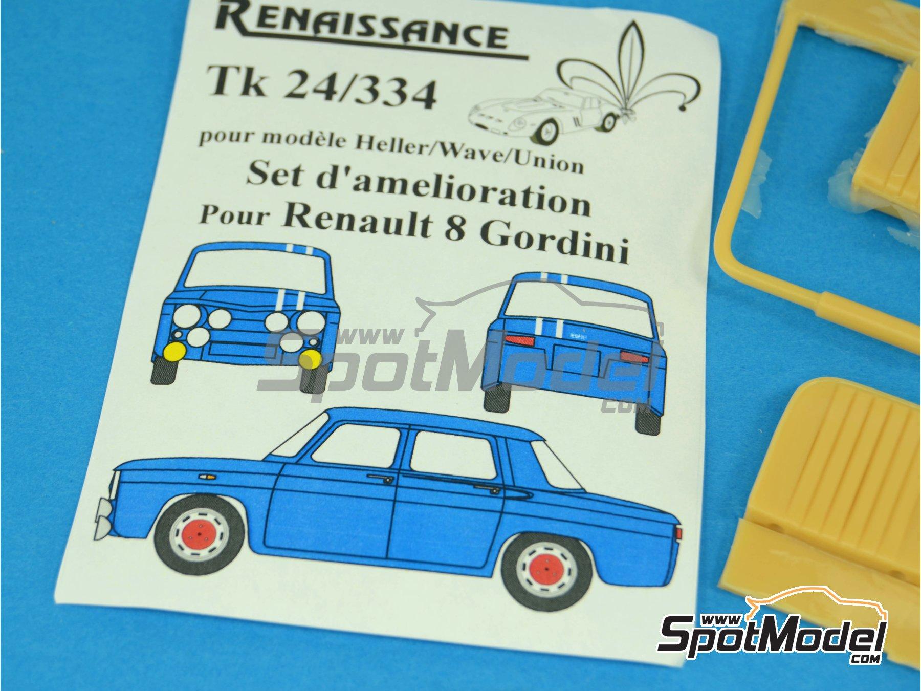 Image 11: Renault R8 Gordini | Transkit en escala1/24 fabricado por Renaissance Models (ref.TK24-334)