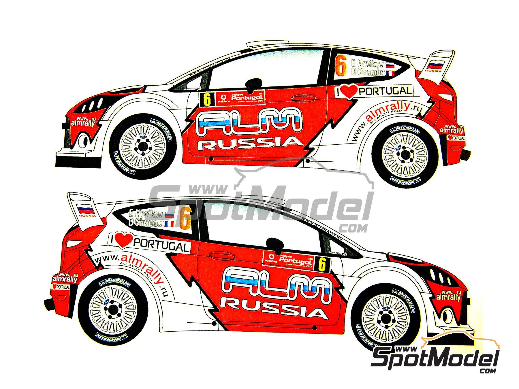 Image 1: Ford Fiesta WRC ALM Russia - Rally de Portugal 2012   Calcas de agua en escala1/24 fabricado por Renaissance Models (ref.TK24-339)