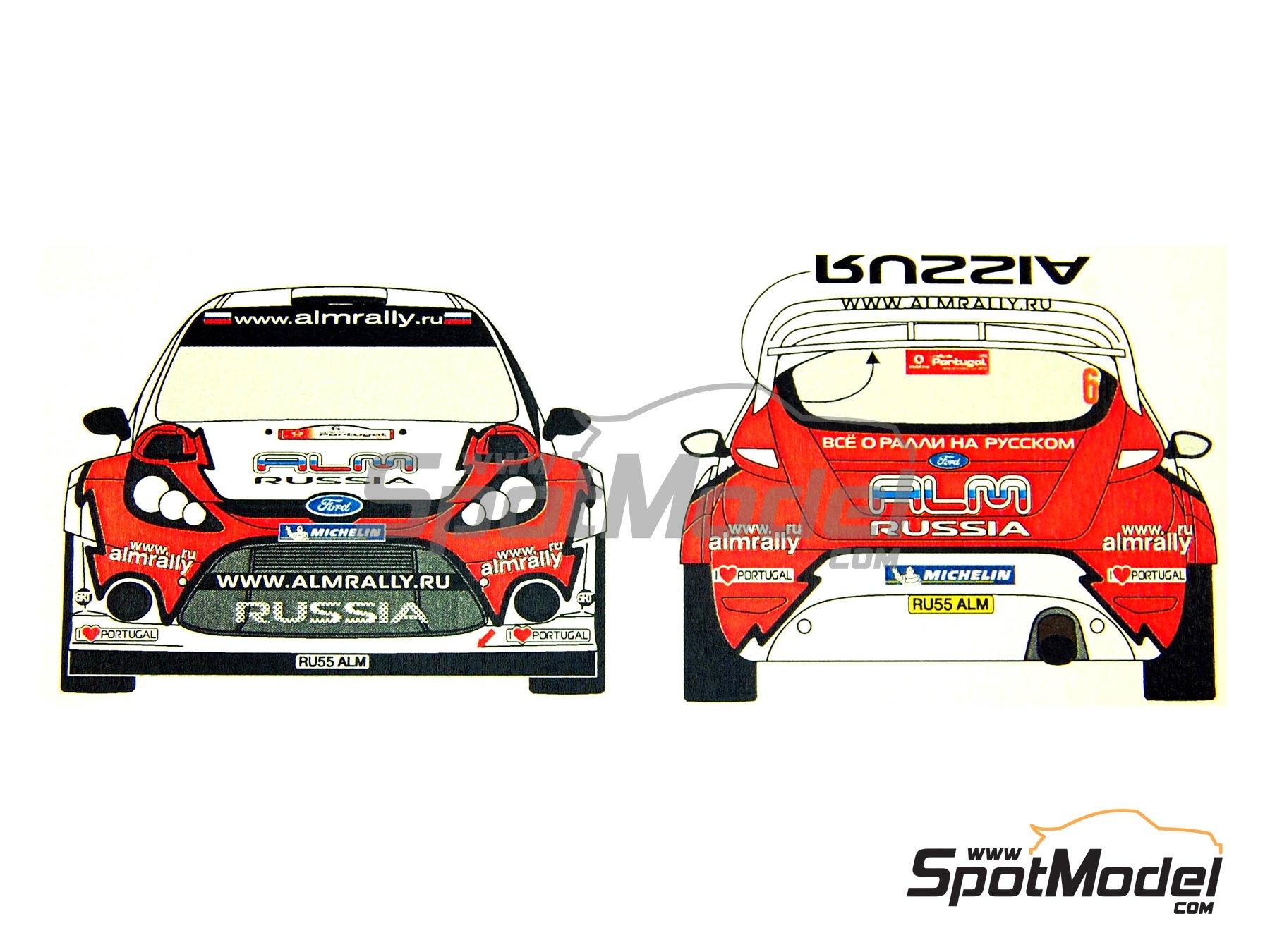 Image 2: Ford Fiesta WRC ALM Russia - Rally de Portugal 2012   Calcas de agua en escala1/24 fabricado por Renaissance Models (ref.TK24-339)