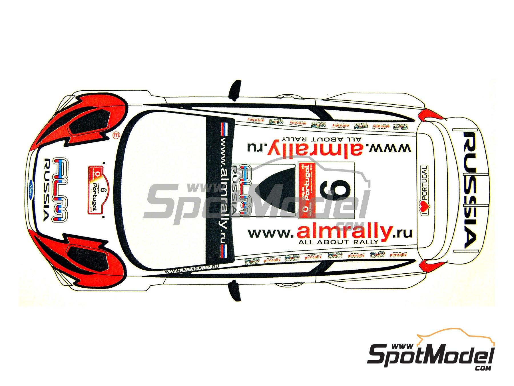 Image 3: Ford Fiesta WRC ALM Russia - Rally de Portugal 2012   Calcas de agua en escala1/24 fabricado por Renaissance Models (ref.TK24-339)