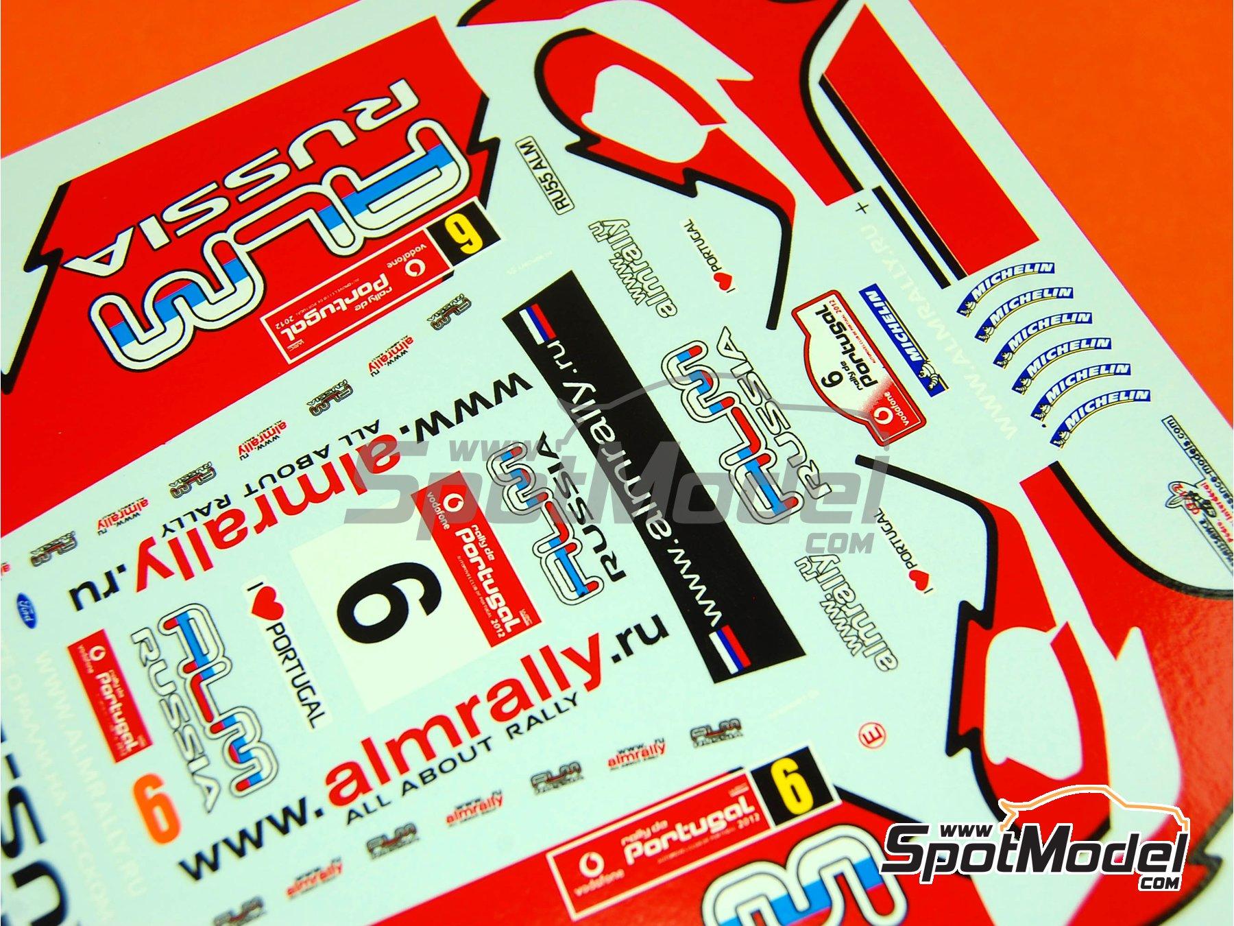 Image 5: Ford Fiesta WRC ALM Russia - Rally de Portugal 2012   Calcas de agua en escala1/24 fabricado por Renaissance Models (ref.TK24-339)