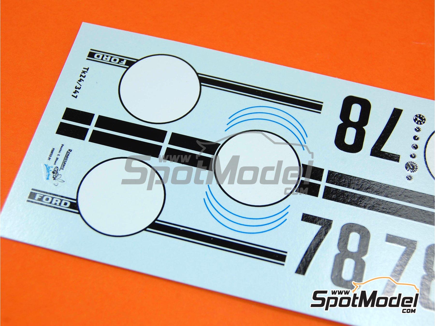 Image 2: Ford GT40 Mk II Alan Mann Racing - 24 Horas de Le Mans 1966 | Decoración en escala1/24 fabricado por Renaissance Models (ref.TK24-347)