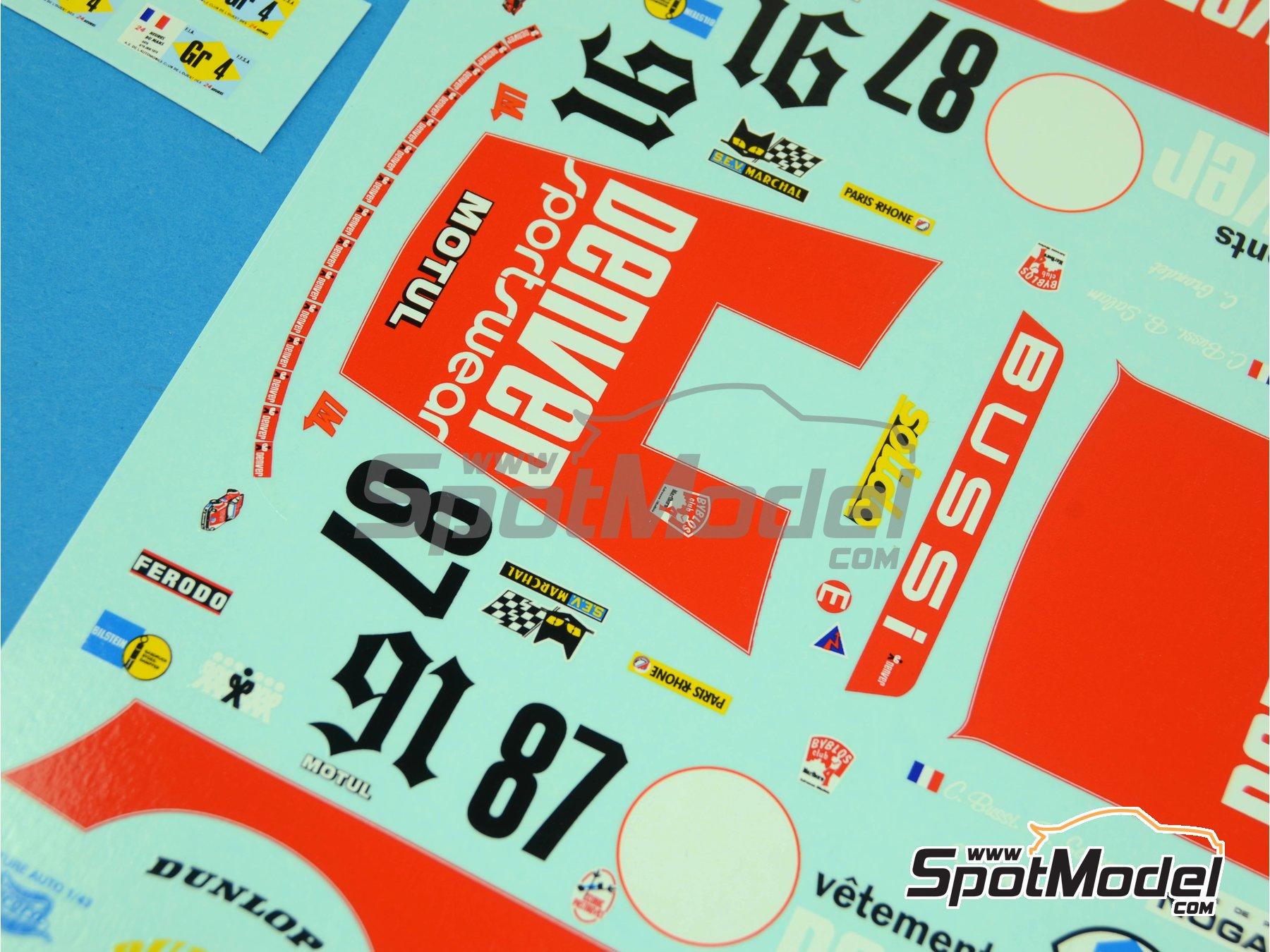 Image 5: Porsche 934 Turbo RSR Grupo 4 Denver - 24 Horas de Le Mans 1979 y 1980 | Decoración en escala1/24 fabricado por Renaissance Models (ref.TK24-372)