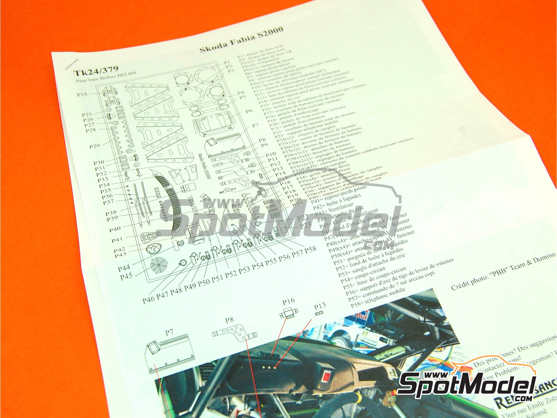 Image 7: Skoda Fabia S2000 Evo | Detail up set in 1/24 scale manufactured by Renaissance Models (ref. TK24-379)