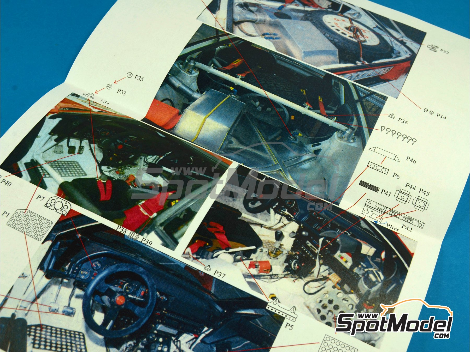 Image 3: Toyota Celica GT-Four ST165 | Detail up set in 1/24 scale manufactured by Renaissance Models (ref. TK24-391)