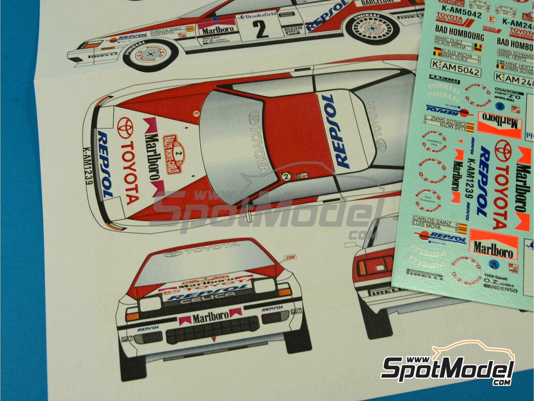 Image 4: Toyota Celica GT Four ST165 Group A Marlboro - Rally de Montecarlo - Rallye Automobile de Monte-Carlo 1991 | Calcas de agua en escala1/24 fabricado por Renaissance Models (ref.TK24-396)