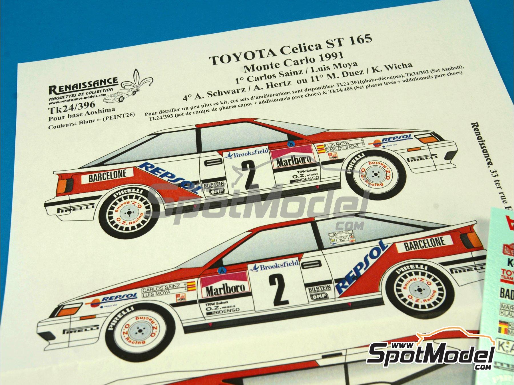 Image 5: Toyota Celica GT Four ST165 Group A Marlboro - Rally de Montecarlo - Rallye Automobile de Monte-Carlo 1991 | Calcas de agua en escala1/24 fabricado por Renaissance Models (ref.TK24-396)