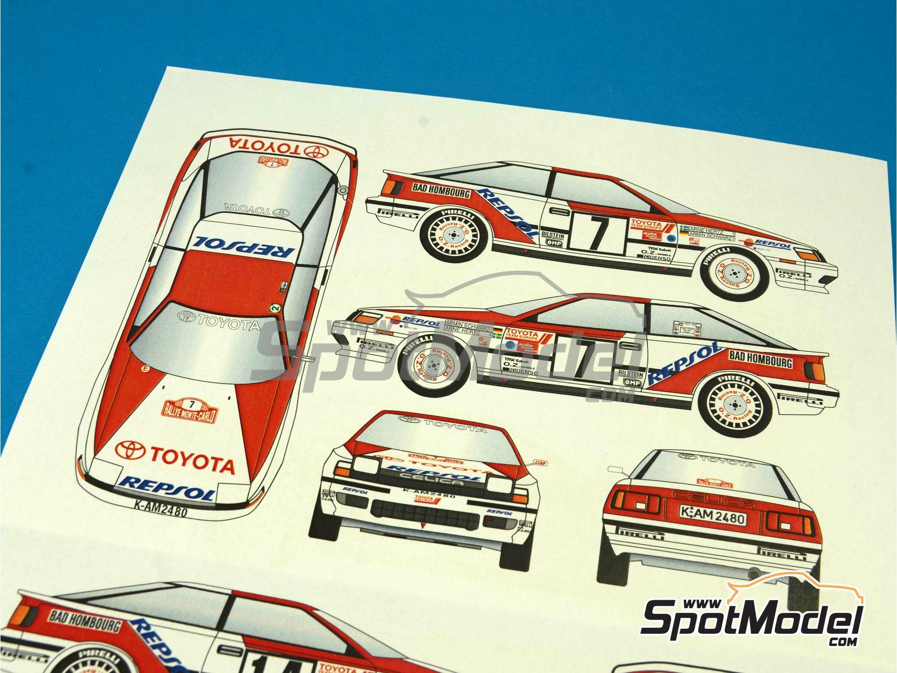 Image 7: Toyota Celica GT Four ST165 Group A Marlboro - Rally de Montecarlo - Rallye Automobile de Monte-Carlo 1991 | Calcas de agua en escala1/24 fabricado por Renaissance Models (ref.TK24-396)