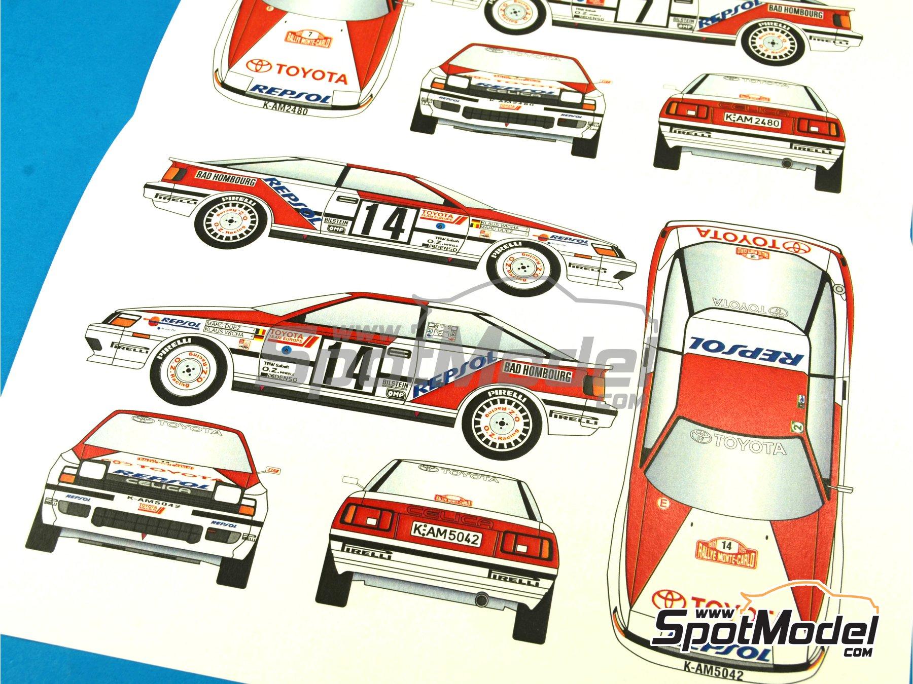 Image 8: Toyota Celica GT Four ST165 Group A Marlboro - Rally de Montecarlo - Rallye Automobile de Monte-Carlo 1991 | Calcas de agua en escala1/24 fabricado por Renaissance Models (ref.TK24-396)