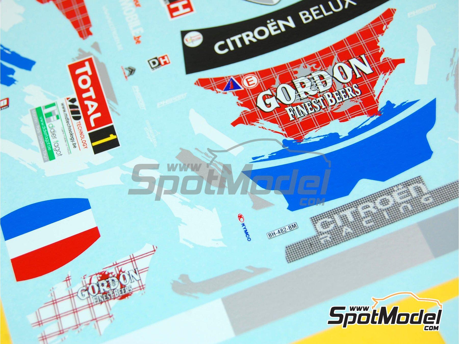 Image 3: Citroen DS3 WRC Gordon Finest Beers - Rally Condroz de Bélgica 2013 | Calcas de agua en escala1/24 fabricado por Renaissance Models (ref.TK24-398)