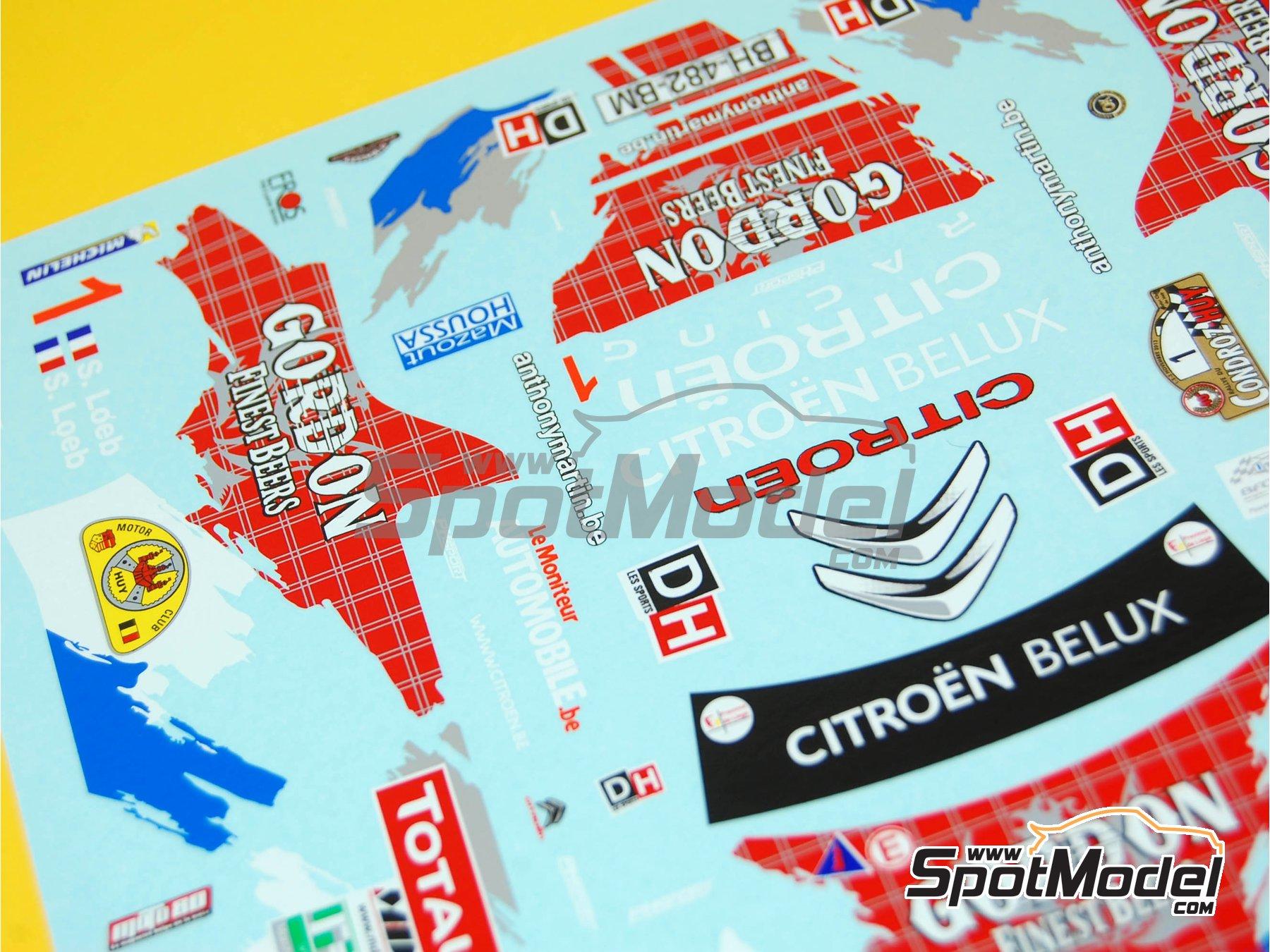 Image 4: Citroen DS3 WRC Gordon Finest Beers - Rally Condroz de Bélgica 2013 | Calcas de agua en escala1/24 fabricado por Renaissance Models (ref.TK24-398)