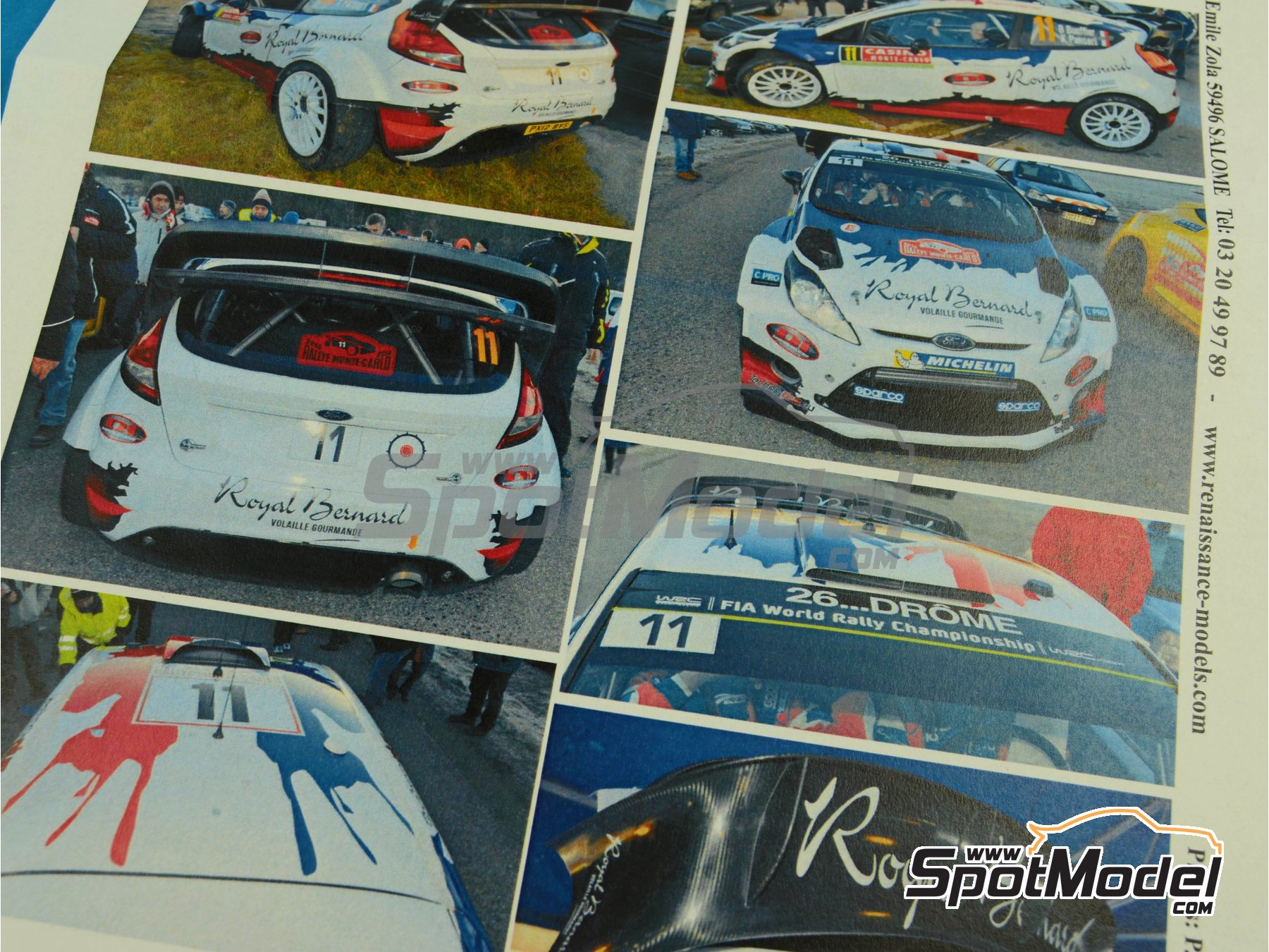 Image 7: Ford Fiesta WRC Royal Bernard - Rally de Montecarlo 2014 | Calcas de agua en escala1/24 fabricado por Renaissance Models (ref.TK24-399)
