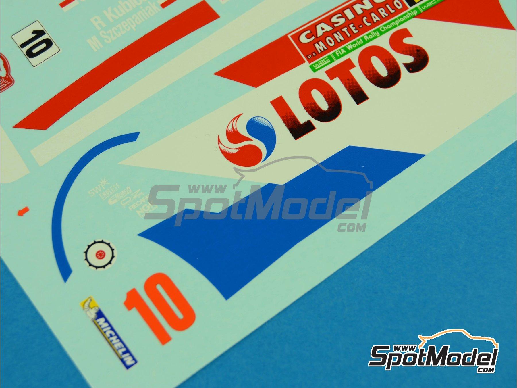 Image 6: Ford Fiesta WRC Lotos - Rally de Montecarlo 2014 | Calcas de agua en escala1/24 fabricado por Renaissance Models (ref.TK24-400)