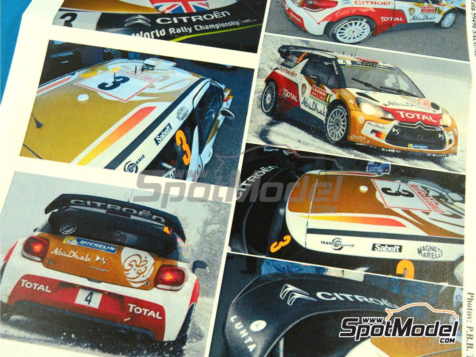 Image 6: Citroen DS3 WRC Abu Dhabi - Montecarlo Rally - Rallye Automobile de Monte-Carlo 2014 | Marking / livery in 1/24 scale manufactured by Renaissance Models (ref.TK24-401)