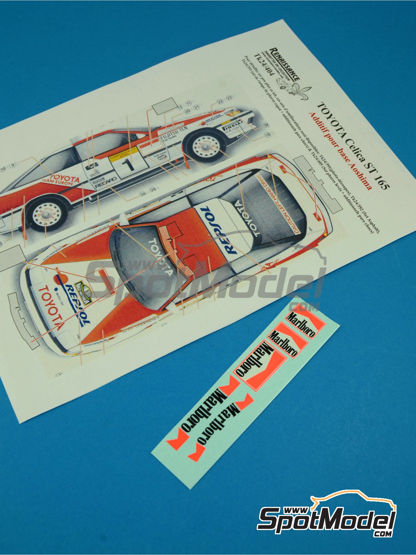 Toyota Celica GT Four ST165 Group A : Marlboro logos | Logotypes in 1/24 scale manufactured by Renaissance Models (ref. TK24-404) image