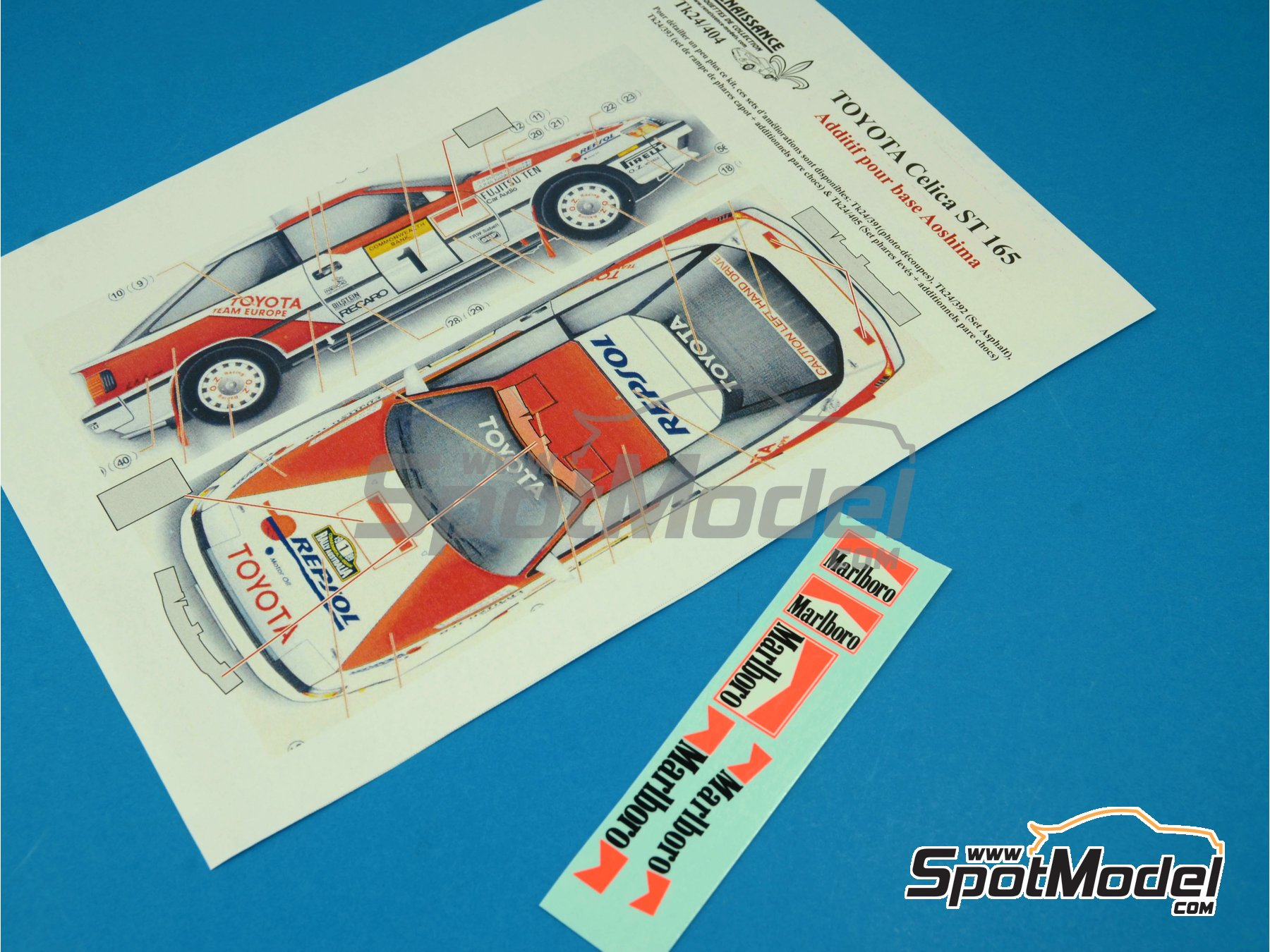 Image 3: Toyota Celica GT Four ST165 Group A : Marlboro logos | Logotypes in 1/24 scale manufactured by Renaissance Models (ref. TK24-404)