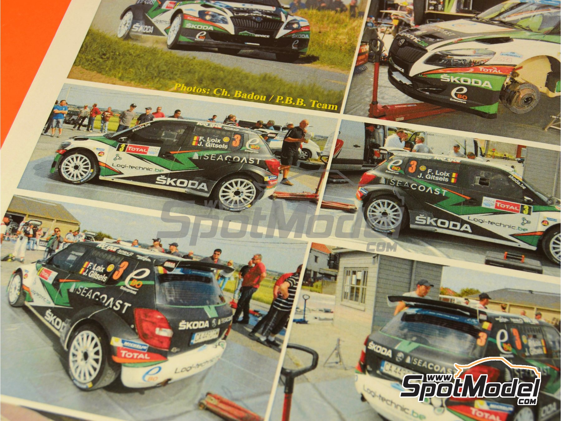 Image 2: Skoda Fabia S2000 Seacoast - Ypres Rally 2014   Marking / livery in 1/24 scale manufactured by Renaissance Models (ref.TK24-407)