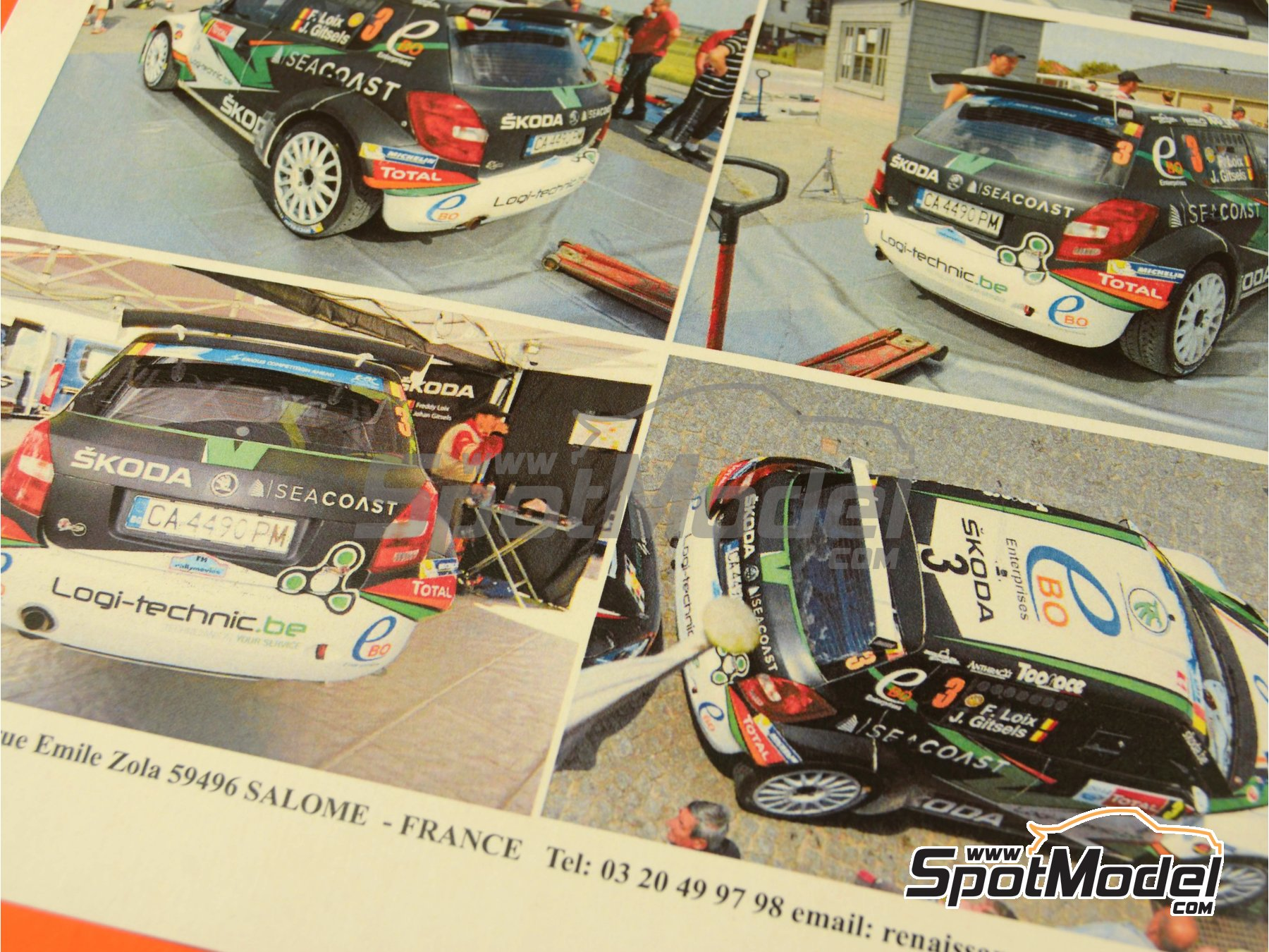 Image 3: Skoda Fabia S2000 Seacoast - Ypres Rally 2014   Marking / livery in 1/24 scale manufactured by Renaissance Models (ref.TK24-407)